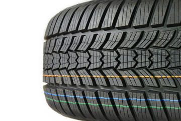 Tire tread. High performance car wheel of rubber or caoutchouc