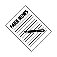 Icono plano escribir FAKE NEWS en color negro