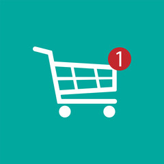 Shopping Cart icon. Vector illustration.