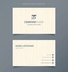 Creative business card and name card light brown wood pattern background template concept and commercial design.