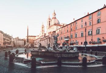 Fountain at Piazza Navona, Rome, Italy