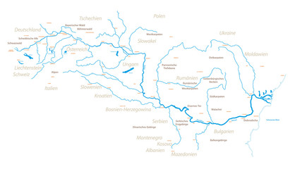 Die Donau und Umgebung