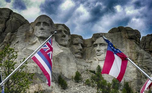 Wall mural Mt Rushmore, South Dakota, USA