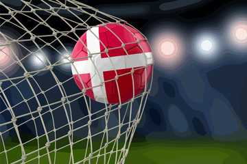 Danish soccerball in net