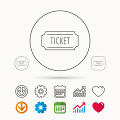 Ticket icon. Coupon sign.