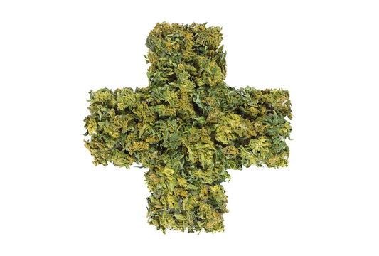 medical marijuana cross symbol