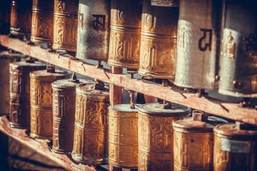 Buddhist prayer drums