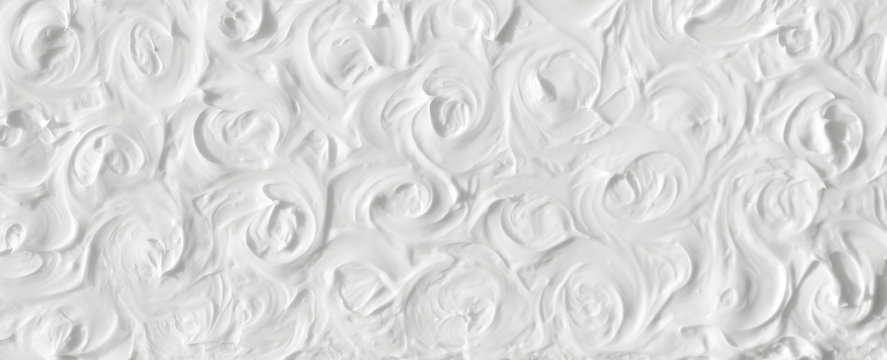 The texture of the white roses is painted with colors with a volumetric effect. Template for the wedding celebration.