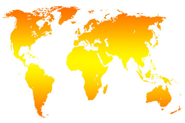 Grey gradient world map isolated buy this stock photo and explore see more gumiabroncs Images