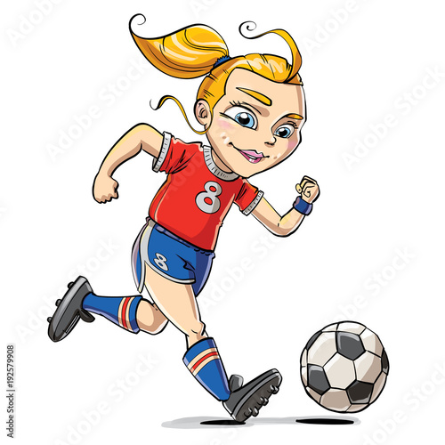 cartoon soccer girl stock photo and royalty free images on fotolia