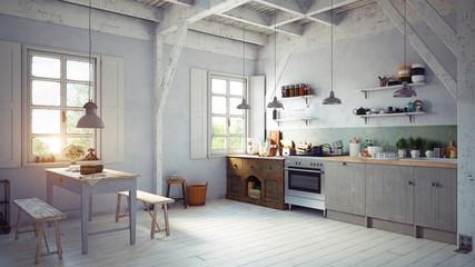 style kitchen interior.