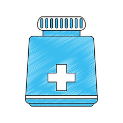 Medicine bottle symbol icon vector illustration graphic design