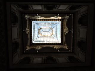Techo abovedado con cristalera acerada, Real Alcázar de Sevilla