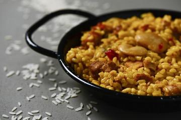 typical spanish paella valenciana