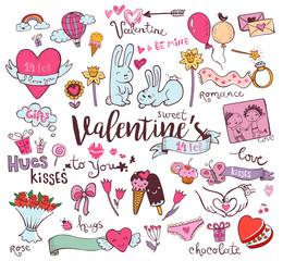 Cute Valentine doodles