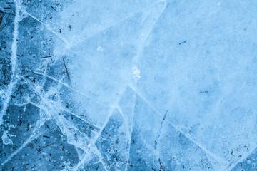 ice background. ice in the cracks.