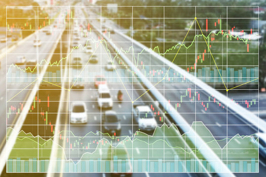 Business finance stock index background of investment on infrestructure at countrysite