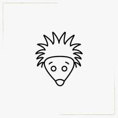 hedgehog line icon