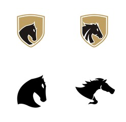 Set collection horse logo