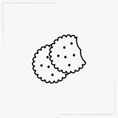 biscuit line icon