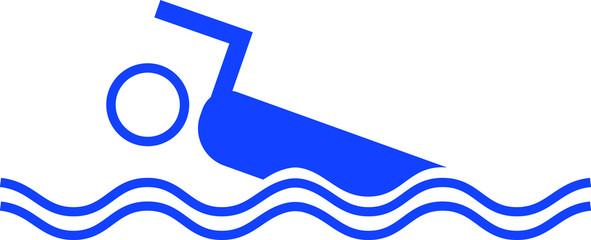 Schwimmer Piktogramm