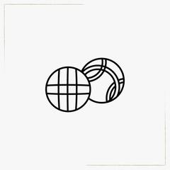 baseball balls line icon