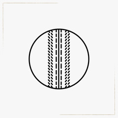 cricket ball line icon