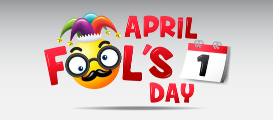 April fool's day, Typography, Colorful, vecter illustration.
