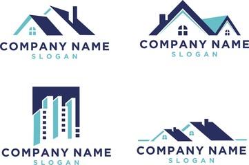 Set collection real estate logo