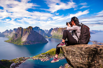Nature photographer Norway Lofoten archipelago.