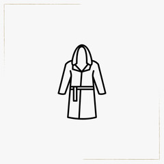boxer gown line icon