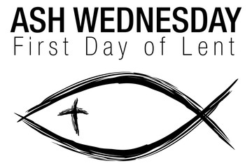 Ash Wednesday Jesus Christian Fish Symbol