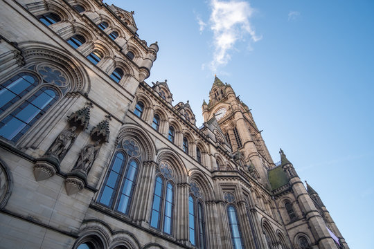Manchester Town Hall, a Victorian, Neo-gothic municipal building in Manchester, United Kingdom
