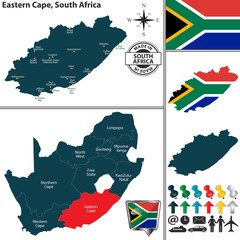 Map of Eastern Cape, South Africa