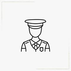 policeman line icon
