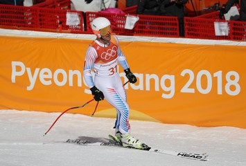 Olympics: Alpine Skiing-Mens Super-G