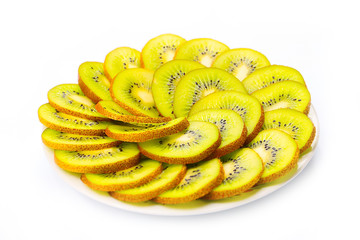 slices of a beautiful fresh special tropical fruit kiwi