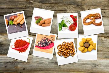 Food Fotografie auf Holztisch