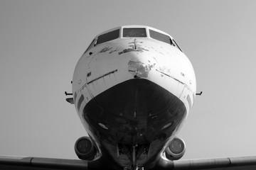 Old passenger airplane