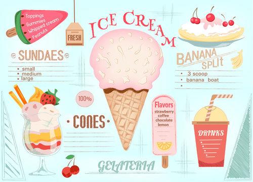 Placemat Ice Cream