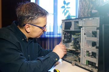 Repair of computers at home.