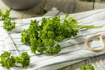 Raw Green Organic Curly Parsley