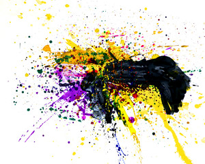 drops of paint, watercolor, abstraction