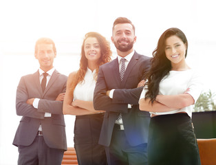 business team on office background.