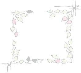 Vector frame of the leaves