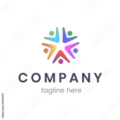 Company logo design template. Trendy sign for business and branding ...