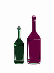 color bottles cartoon