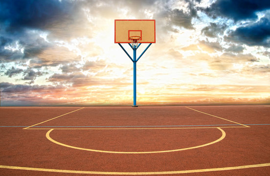 Street basketball court.