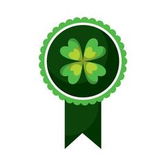 rosette award clover medal lucky concept vector illustration