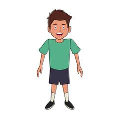 Cute boy cartoon icon vector illustration graphic design